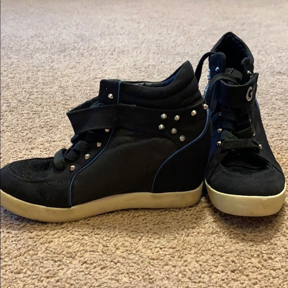 G By Guess Studded Sneaker Wedges